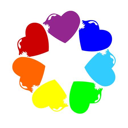 Colorful hearts icon.