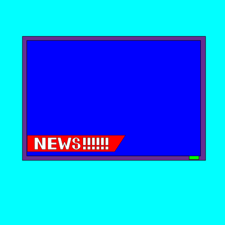 Vector illustration color retro tv set isolated on white background. Flat Design.