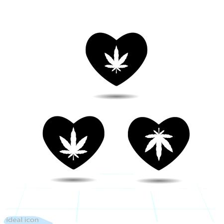 Heart Vector Black Icon Love Symbol The Silhouette Marijuana