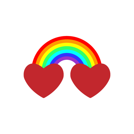 Very cool vector is when we actually combined the two hearts together with a rainbow, the combination, the blend, is more potent love sign than either one alone.