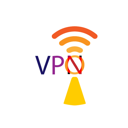 VPN icon. Protect, safety concept. Save internet security wifi sign emblem. Vector flat modern style illustration icon design. Isolated.