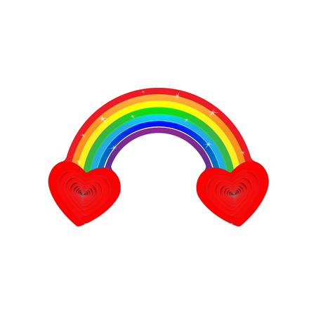 Pied two heart rainbow. Very cool vector is when we actually combined the two hearts together with a rainbow, the combination, the blend, is more potent love sign than either one alone. Çizim