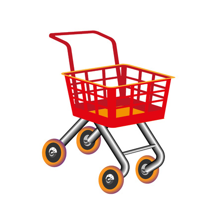 Set shopping cart icon flat design. Toy cartoon colorful design best vector icon. Children s shop.