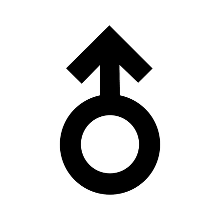 Gender men signs black icon. A symbol sexual affiliation. Flat style for graphic design. A lot of soot. A happy love.