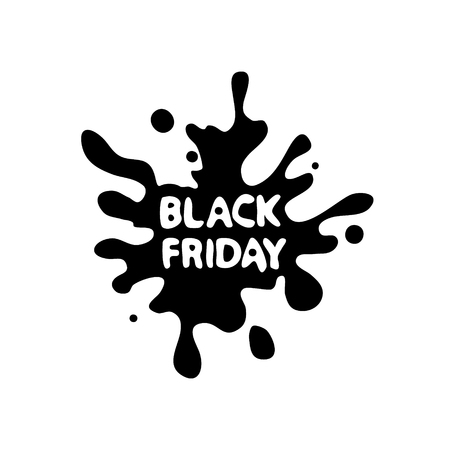 Ultramodern futuristic design silhouette blot, dedicated to Black Friday sales. Vector illustration.