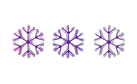 Oval strips geometric snowflake icon. Trendy gradient shapes composition. New year winter Icon Eps10 vector.