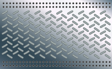 Background texture pattern ellipse style. Oval on the polished sheet of chrome. Bumps of steel floor metal. High-tech design processing. Vector illustration. eps 10.