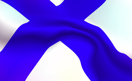 Background Finnish flag in folds. Finlyandsky banner. Pennant with stripes up close, standard Republic Of Finland. Northern Europe illustration. Realistic soft shadows, highlights. North Vector eps10.