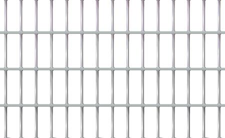 Realistische achtergrond gevangenis ijzer interieur. Gevangeniscellen modern met tralies. Banner vector gedetailleerde illustratie metalen rooster. Detentiecentrum cel metaal. Geïsoleerde manier, vrijheid concept raster. Eps 10.