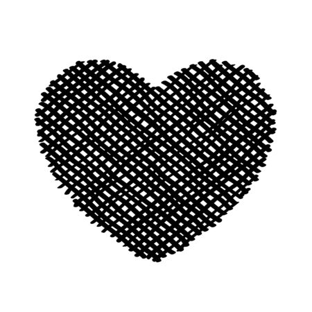 Scribble diagonal hatching criss cross Black heart, symbol love for Valentines Day. Backdrop hand drawn image. Sketch shaded badges shape. Banque d'images - 133299373