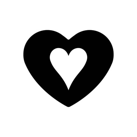 Black Heart hearts suit icon. A symbol of love. Valentine s day with sign playing card suits. Flat style design, logo. Frame Adrenaline addiction sharper, vector illustration.