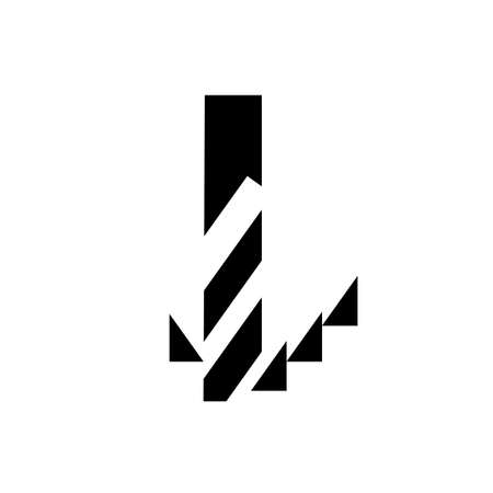 Drilling icon, simple black isolated. Drill bit and swarf, schematic sign for instructions or manual. Technical literature and web design. Vector illustration  .