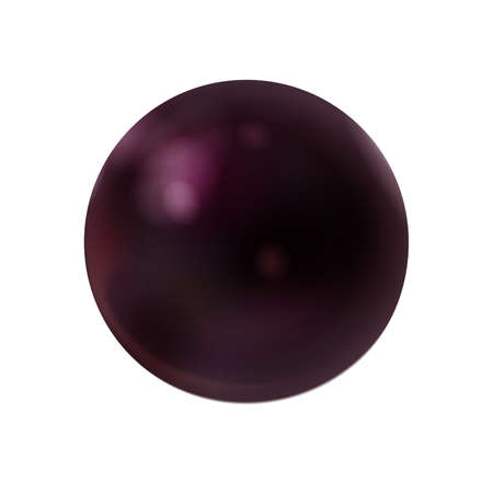 Realistic dark purple sphere matte or glossy, orb 3d mockup blank icon. Natural amethyst, quartz, crystal ball. Stone beautiful abstract symbol. Template for design and branding. Vector illustration Eps 10.