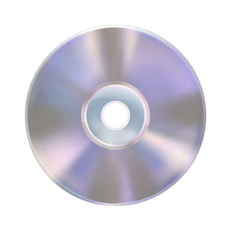 Compact disk or laser disc, isolated on white background. Realistic CD mockup. Information carrier. Media technology. Musical album. Vector illustration Eps 10. 矢量图像