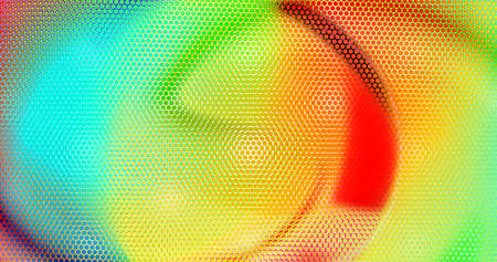 Modern cover design background perforated with hexs. Abstract technology backdrop, multicolored geometric textured hexagons. Ad banner minimal composition with hex shapes. Vector illustration