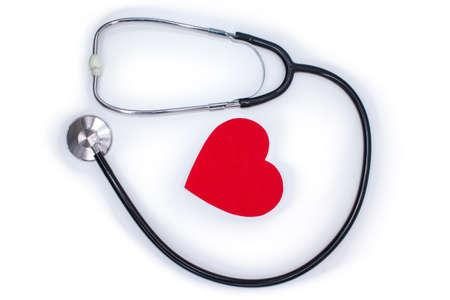 Stethoscope medical isolated on white background. Medic test, concept.