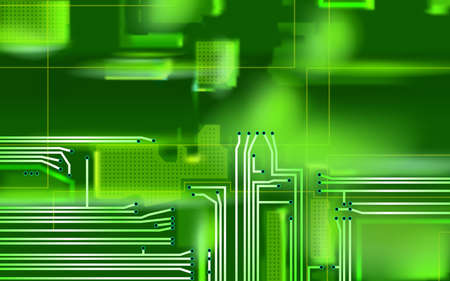 Hi-tech green background. Abstract composition electronic. Industrial printed circuit board variant concept. Vector technical art illustrations. Eps 10.