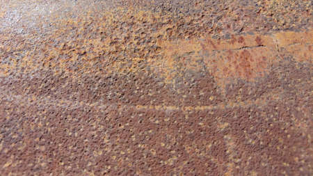 Rusty and metal texture background. Realistic russet sample, template backdrop. Textured illustration banner. 版權商用圖片