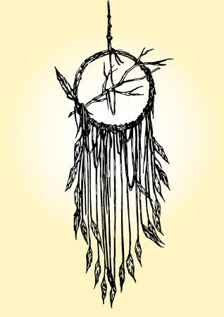 vecter: Hand Drawn Vecter of Dream Catcher Illustration Illustration