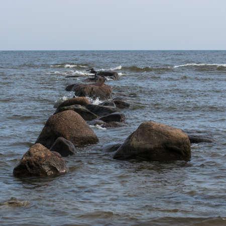 Baltic sea at Mersrags, Latvia. on the coast of Baltic sea.