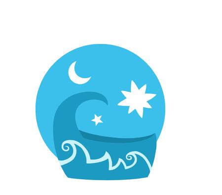 lullaby: Cesta del beb� Vectores