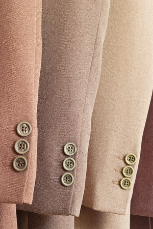 close-up of three mens suits Banco de Imagens
