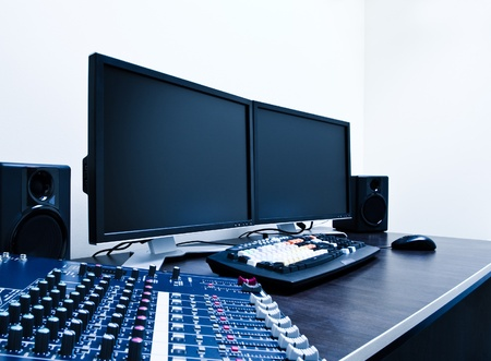 audio mixer and video editing workstation Stock Photo - 9181732