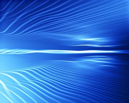 wavy lines design on blue background Stock Photo - 9297264