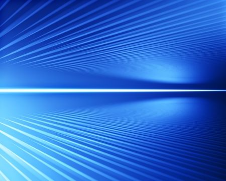 lines in perspective on blue background Stock Photo - 9297263