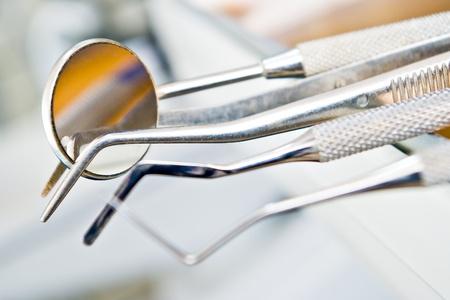 dentist's instruments with shallow depth of field Standard-Bild