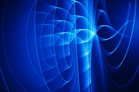 blue lighting wave - computer generated image photo