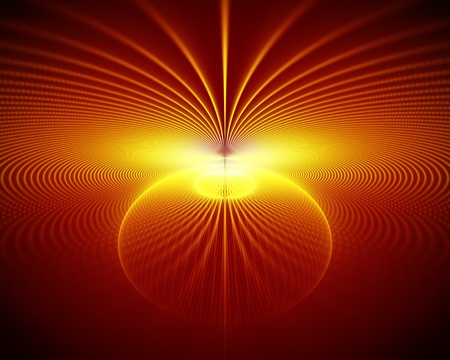 abstract fire rays and sphere Stock Photo - 9786858