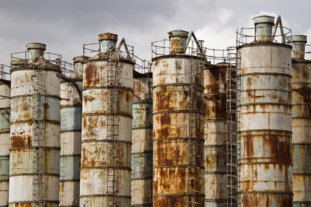 abandoned old rusty industrial containers Stock Photo - 10775972