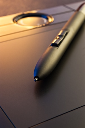 graphic tablet: closeup of graphic tablet  with pen