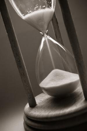 time concept with old hourglass