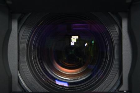 light zoom: closeup of professional camera lens