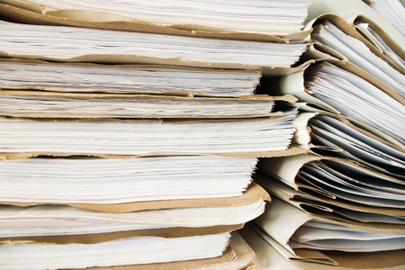 stack of office folders and documents paperwork Stock Photo - 13529768