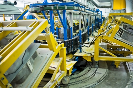 industrial robotic production line for foam Stock Photo - 14242507