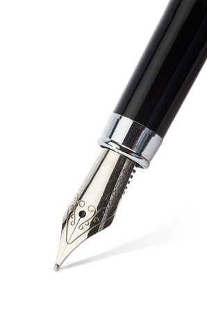 tip of the fountain pen