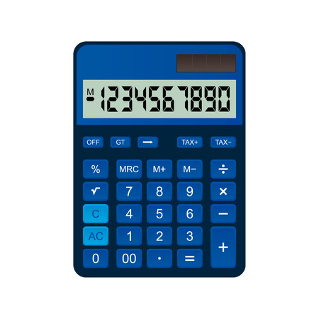 plastic made: Calculator is made of blue plastic