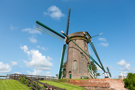 The Dutch historic windmill Stockfoto