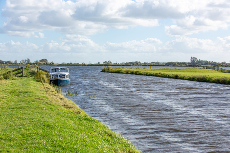 Water landscape of the Kagerplassen in South Holland The Netherlands. Stockfoto - 114659337