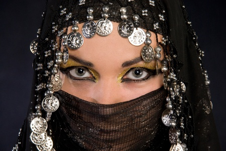 Portret of beautiful arabic girl photo