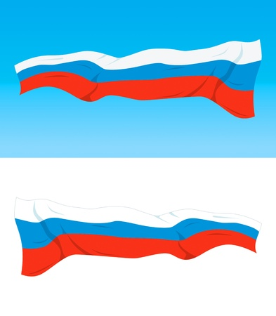 federation: Russian national flag on difrent backgrounds Illustration