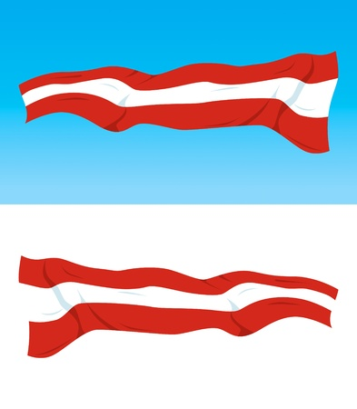 Austrian national flag on blue and white backgrounds Vector