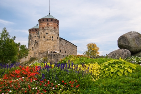 Olavinlinna medieval castle in eastern Finland in the city of Savonlinna