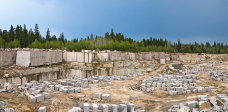 View on quarry for the extraction of granite photo