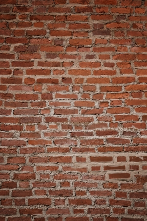 Very old and weathered brick wall background photo