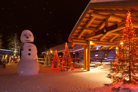 Santa Claus Village  Rovaniemi, Finland, Arctic Circle Editorial