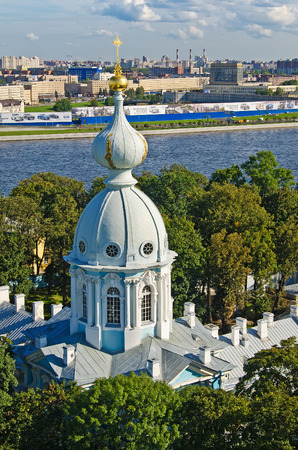 View of St. Petersburg from the bell tower of the Smolny Cathedral